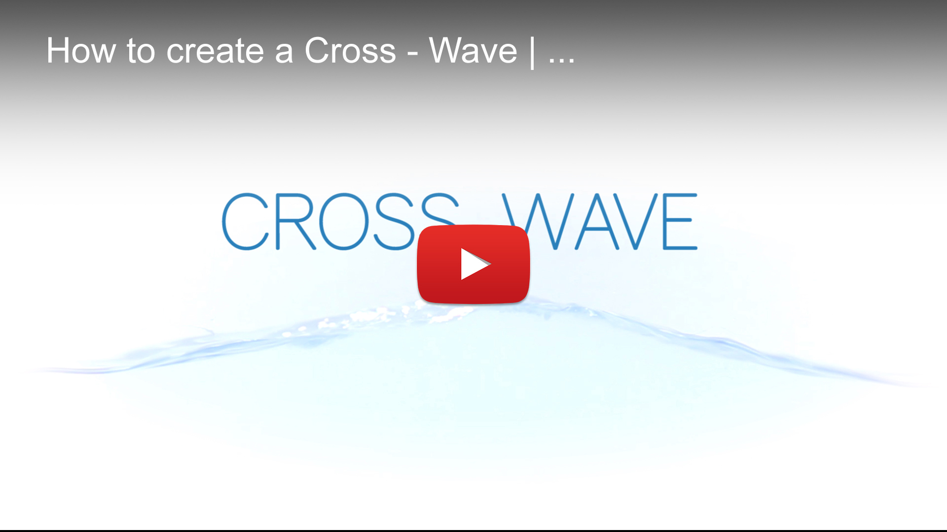 Waver   Cross Wave